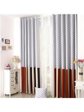 Elegant Beautiful Blue Stars Grommet Top Custom Curtain
