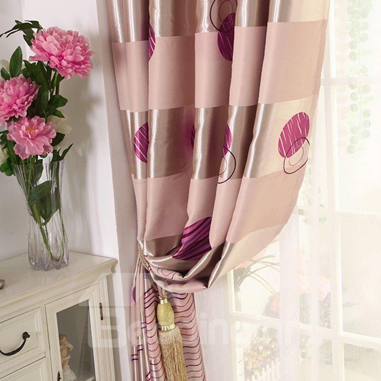 Elegant Burgundy Beautiful Pattern Grommet Top Custom Curtain