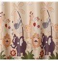 Cartoon Animal Patterns Grommet Top Custom Curtain