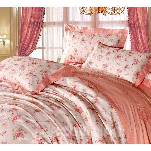 Splendid Floral Pattern 100% Cotton 4-Piece Duvet Cover Sets