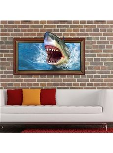 Stunning Creative Shark Mouth Pattern 3D Wall Sticker
