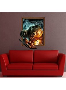 New Arrival Amazing Creative 3D Bear Wall Sticker