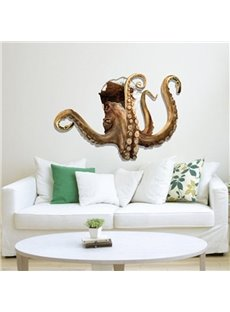 Amazing Decorative Octopus Through Hole 3D Wall Sticker