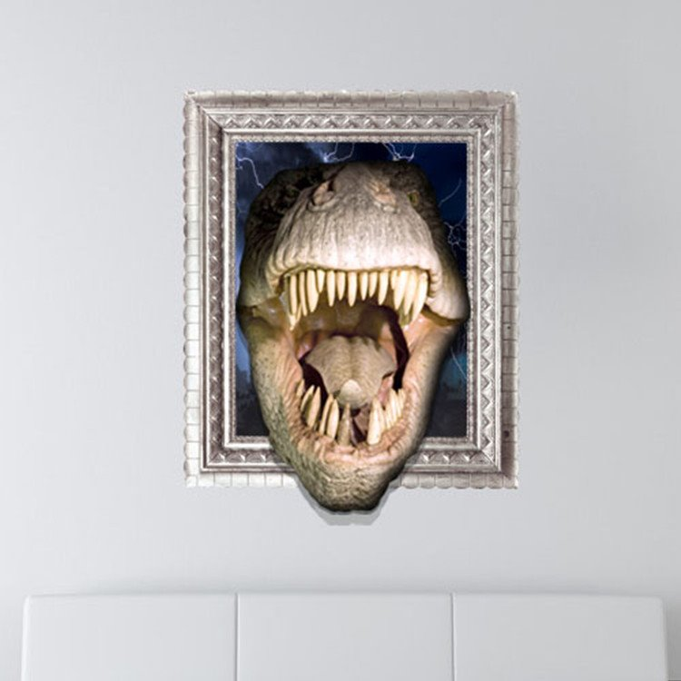 New Arrival Amazing 3D Crocodiles Dinosaurs Wall Sticker