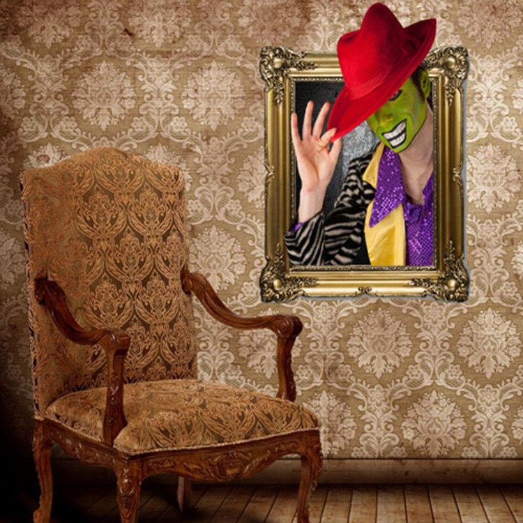 New Arrival Amazing 3D Clown Wall Sticker