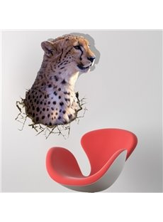 Amazing Creative 3D Leopard Pattern Wall Sticker
