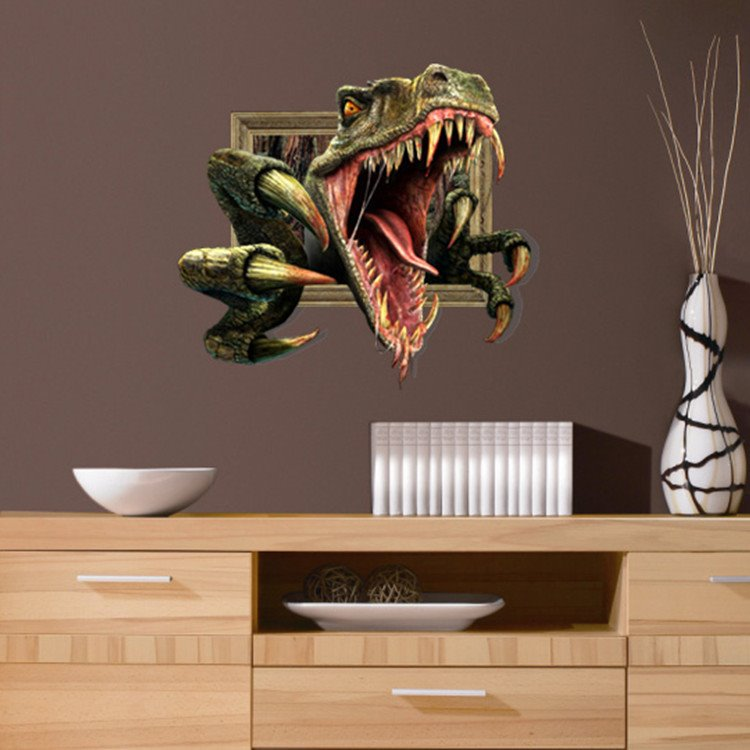 New Arrival Stunning 3D Dinasaur Wall Sticker