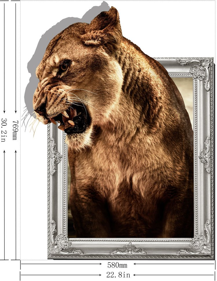 Stunning Creative 3D Tiger Animal Wall Sticker