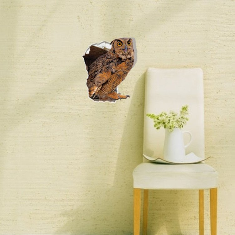 Amazing Creative Owl Pattern 3D Wall Sticker