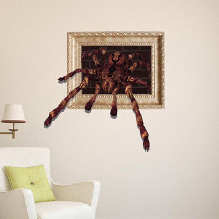 Stunning Style Creative 3D Spider Wall Sticker