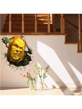 Amazing Style Creative 3D Pumpkin Monster Wall Sticker