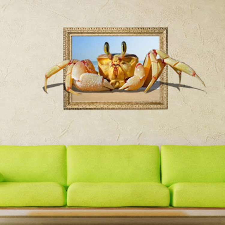 Stunning Stylish 3D Crab Wall Sticker