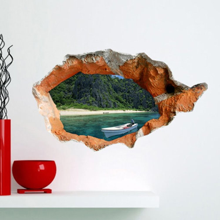 Amazing Creative 3D Beautiful Scenery Wall Sticker