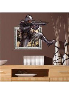 Amazing Design Policeman Pattern 3D Wall Sticker