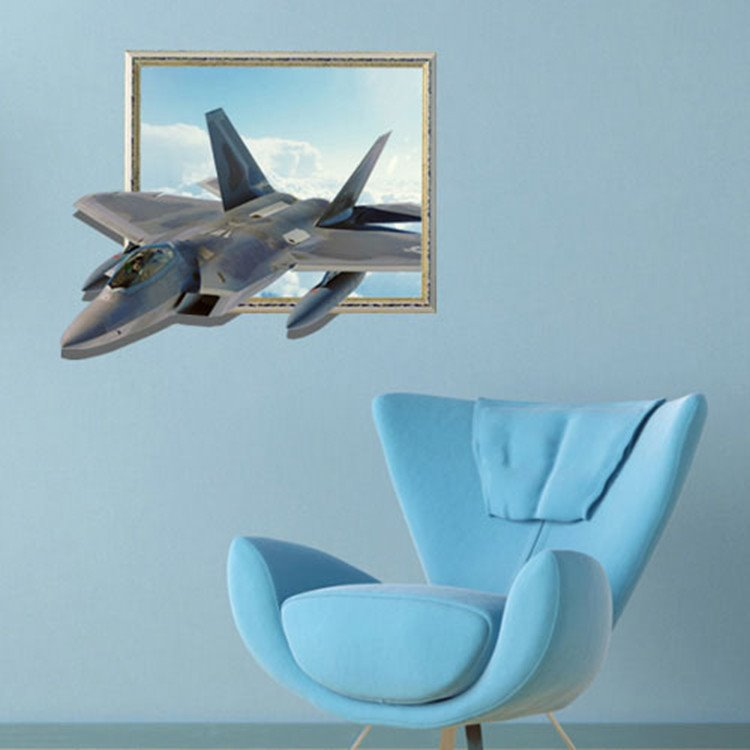 Amazing Creative 3D Aircraft Wall Sticker