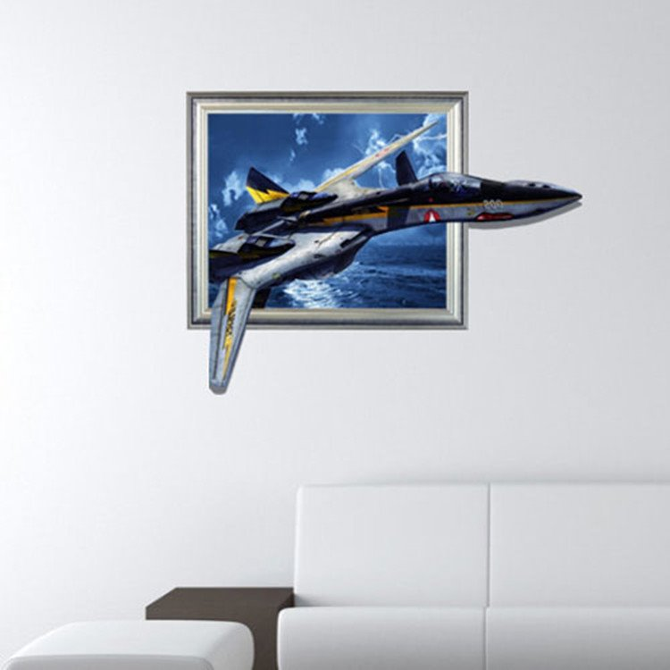 Stunning Creative 3D Aircraft Wall Sticker