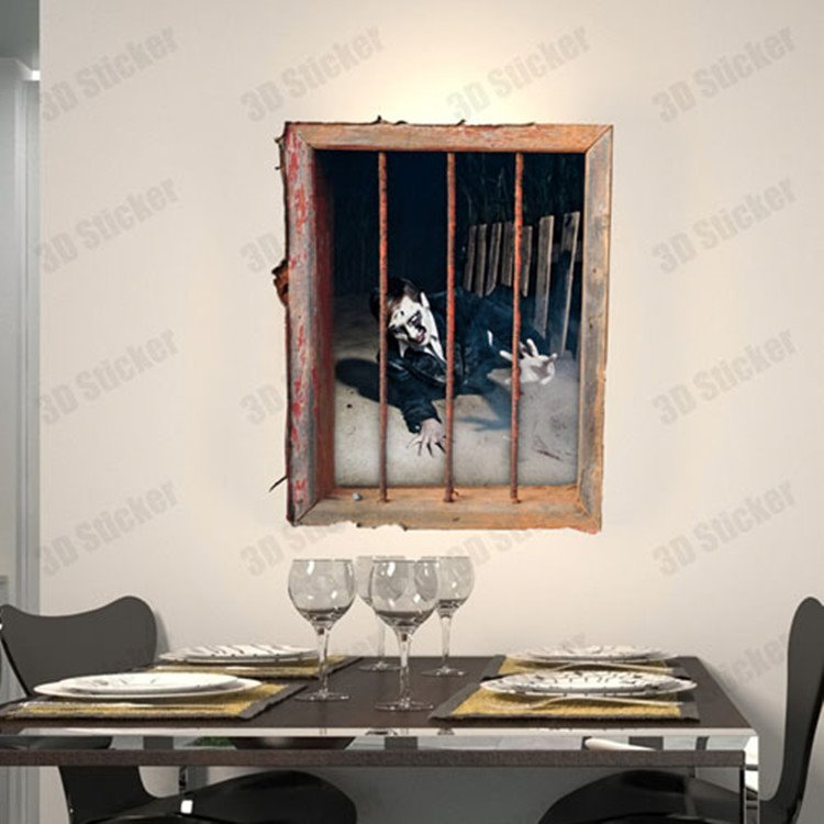Stunning Creative 3D Prison Wall Sticker
