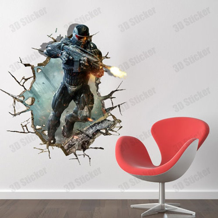 Gorgeous Creative 3D Policeman Wall Sticker