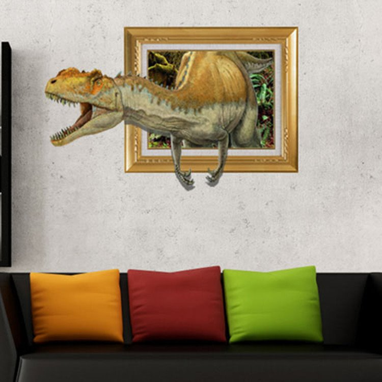 Stunning Stylish 3D Dinosaur Wall Sticker