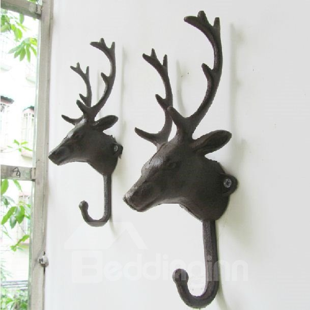 European Retro Deer Pattern One Piece Hook