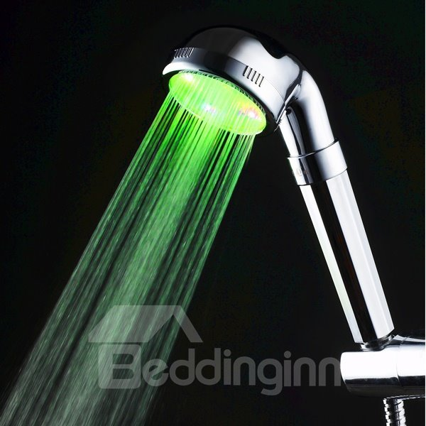 Fancy Silver LED Shower Head Many Colors Changing by Temperature
