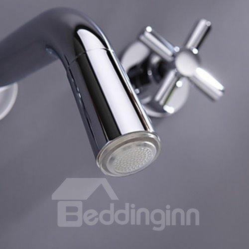 Amazing Color Changing LED Waterfall Widespread Bathroom Sink Faucet