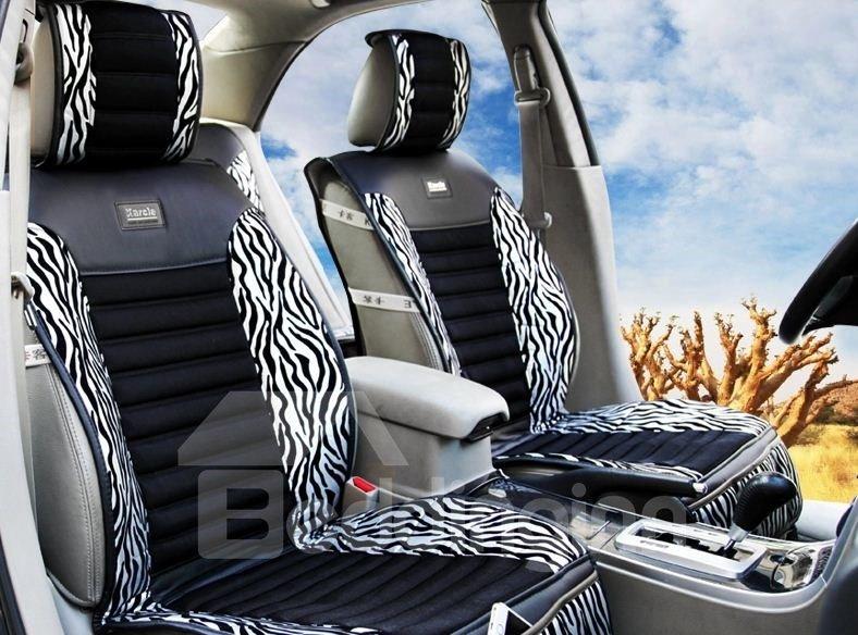 High Quality Classic Zebra Print Silver Car Seat Cover - beddinginn.com