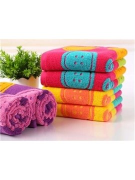 High Quality Full Cotton Colorful Weave Circle Towel