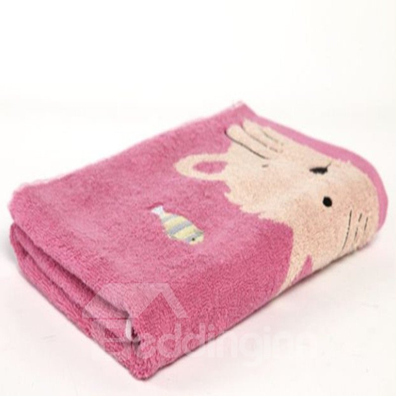 High Quality Splendid Cute Cat Print Towel