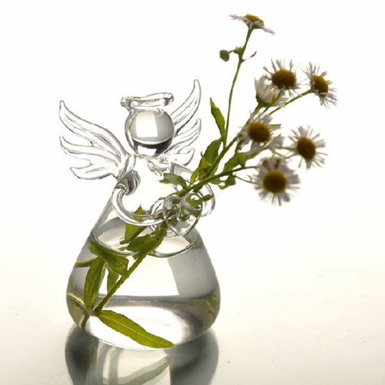 Amazing Creative Angel Design Glass Flower Vase