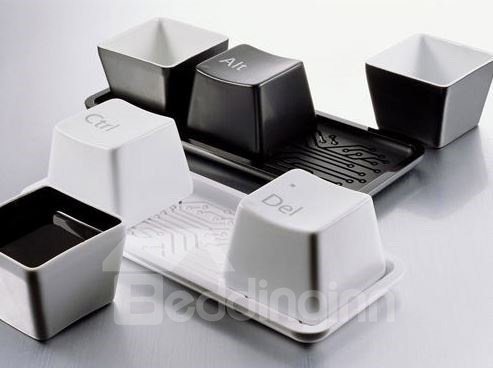 Amazing Creative Fashionable Keyboard Design Three-Piece Cups Set