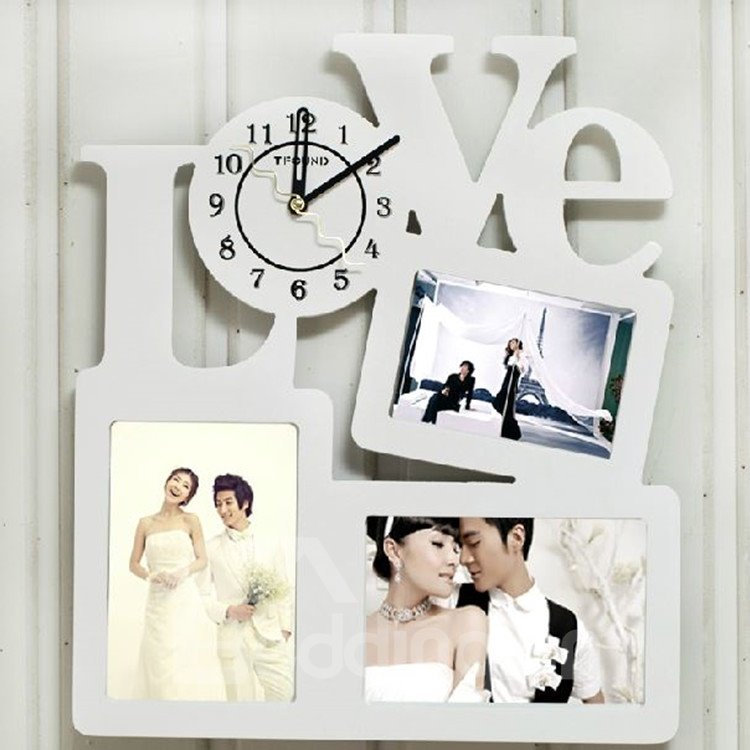 Amazing and Creative Photo Frames Design Wall Clock