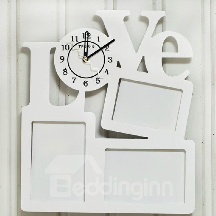 Amazing and Creative Photo Frames Design Wall Clock - beddinginn.com