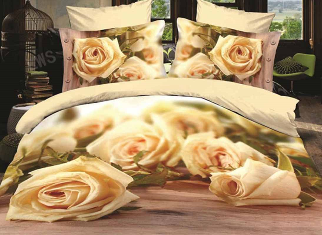 Fabulous Blooming Roses Print 3D Duvet Cover Sets