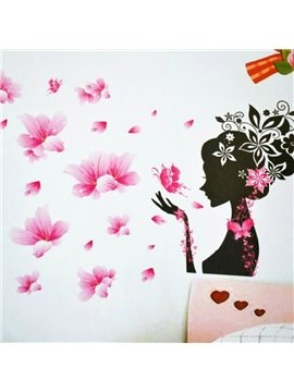 Super Beautiful Romantic Pink Fairy Wall Stickers