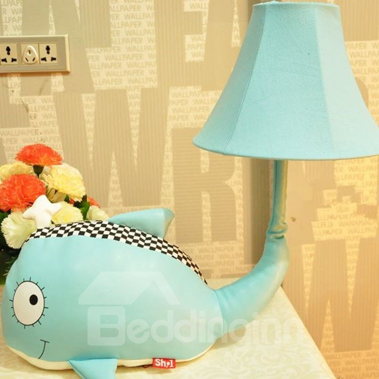 Creative Cute Cartoon Whale Fabric Table Lamp