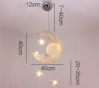 Simple style creative star and moon design cinderella flush mount 52 simple style creative star and moon design cinderella flush mount ceiling light aloadofball