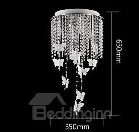 European Style Elegant Creative Angel Design Crystal Remote-control LED Flush Mount