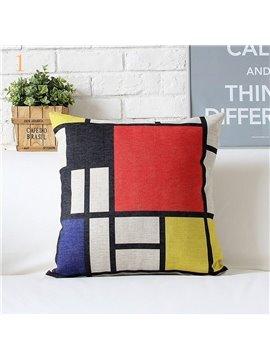 High Quality Simple Design Plaid Pattern Pillowcase
