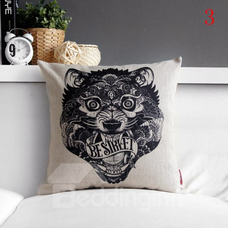 High Quality Fancy Animal Totem Print Pillowcase