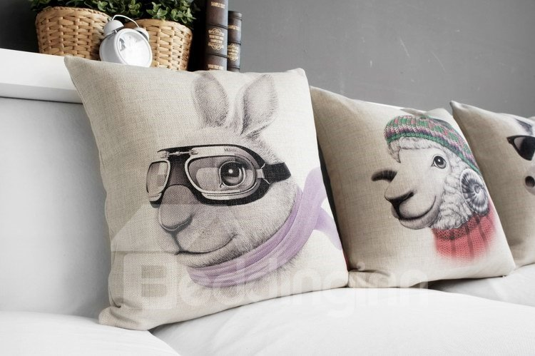 New Arrival Fancy Lovely Animal Print Pillowcase