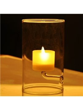European Style Elegant Transparant Glass Candle Holder