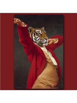 Stunning Tiger Design Pure Cotton Material Wall Art Print