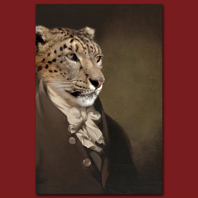Amazing Stylish Leopard Design Pure Cotton Material Wall Art Print