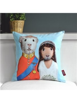 Lovely Cartoon Creative Plush Loving Couple Throw Pillow