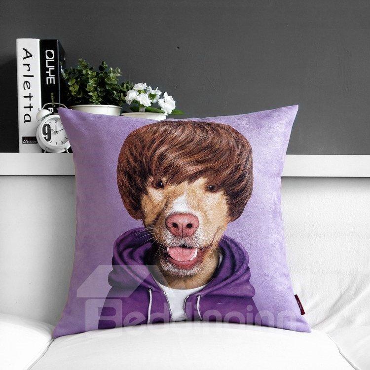 High Quality Creative Purple Lovely Cartoon Print Throw Pillow