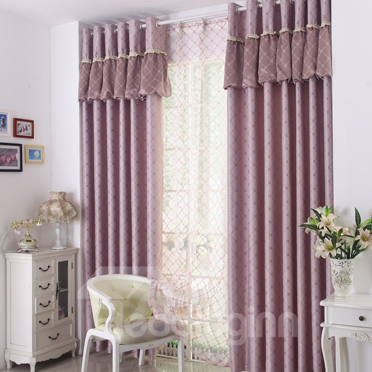 Amazing Luxurious Beautiful Patterns Grommet Top Two-piece Custom Curtains