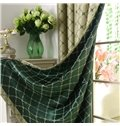 Elegant Luxurious Green Beautiful Patterns Grommet Top Two-piece Custom Curtains