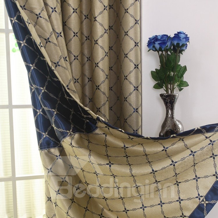 Elegant Luxurious Beautiful Patterns Grommet Top Two-piece Custom Curtains