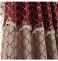 Elegant Luxurious Pretty Patterns Grommet Top Two-piece Custom Curtains